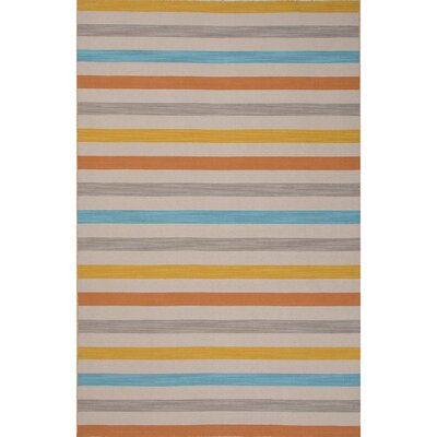 Lavoie Wool Flat Weave Yellows/Gold/Blue Area Rug Rug Size: 2 x 3