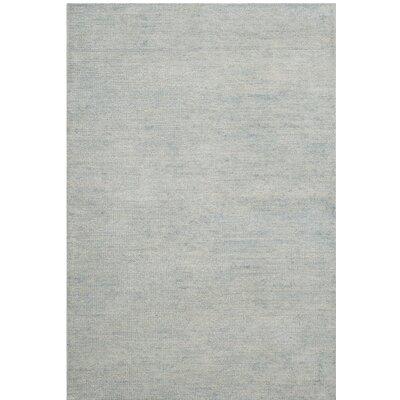 McArthur Hand-Knotted Plain Gray Area Rug Rug Size: 5 x 8