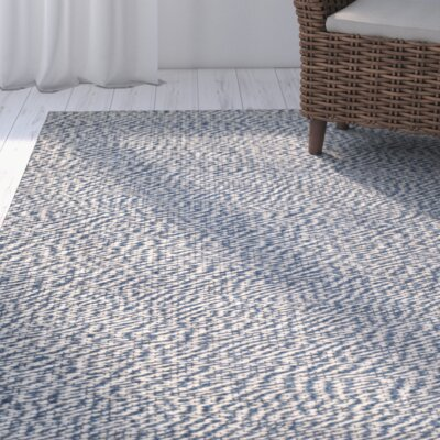 Norwalk Natural Fiber Blue/Ivory Indoor Area Rug Rug Size: 26 x 4
