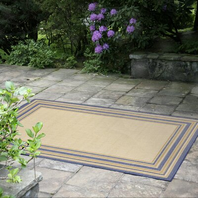 Clatterbuck Border Neutral Indoor/Outdoor Area Rug Rug Size: Rectangle 710 x 910