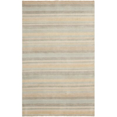 Brookvale Hand-Knotted Silver Area Rug Rug Size: Rectangle 5 x 8
