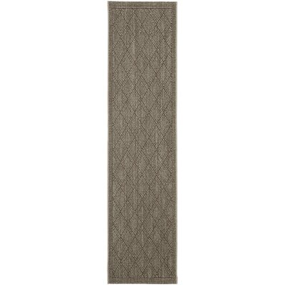 Allegra Hand-Woven Silver Area Rug Rug Size: Runner 2 x 8