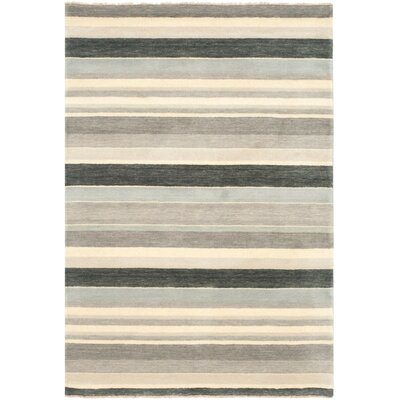 Brookvale Hand-Knotted Gray Area Rug Rug Size: Rectangle 5 x 8
