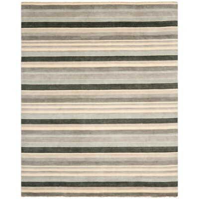 Brookvale Hand-Knotted Gray Area Rug Rug Size: Rectangle 8 x 10