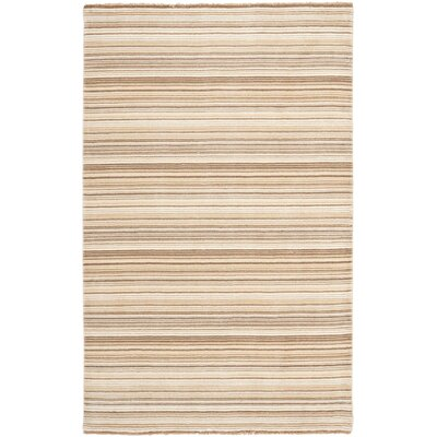 Brookvale Hand-Knotted Natural Area Rug Rug Size: Rectangle 5 x 8