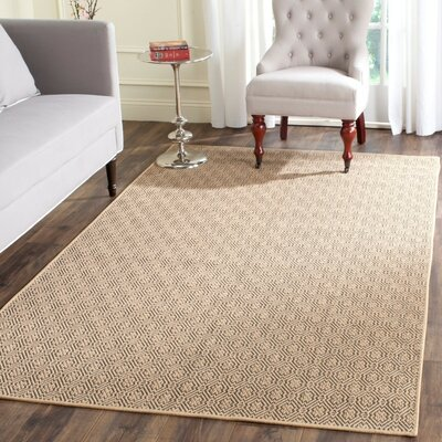 Allegra Hand-Woven Jute Area Rug Rug Size: Rectangle 4 x 6