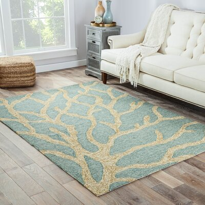 Foley Blue/Frosty Green Coastal Rug Rug Size: 2 x 3