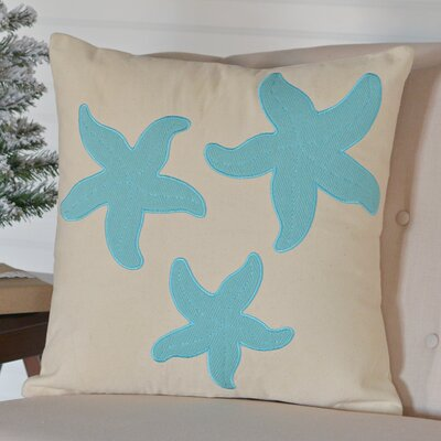 Tho 3 Starfish 100% Cotton Throw Pillow