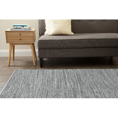 Annalie Hand-Woven Gray Area Rug Rug Size: 5 x 7