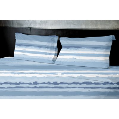 Dewson Duvet Set Size: King, Color: Blue
