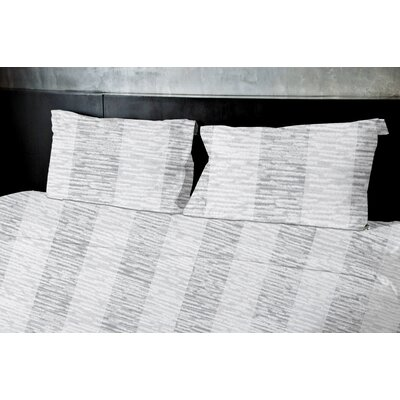 Newtown Duvet Set Size: King, Color: Gray