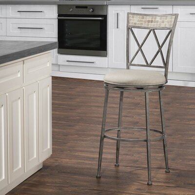 Adriane 30 Swivel Indoor/Outdoor Patio Bar Stool
