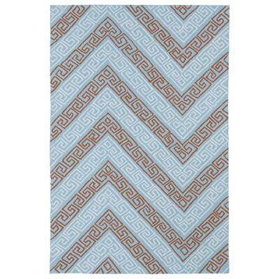 Pierre Light Blue Indoor/Outdoor Rug Rug Size: 86 x 116
