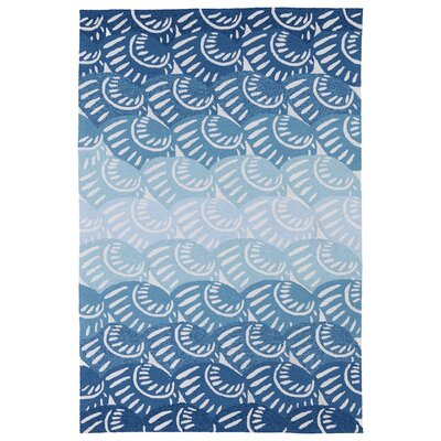 Claysburg Hand-Tufted Blue Oriental Indoor/Outdoor Area Rug Rug Size: Rectangle 86 x 116