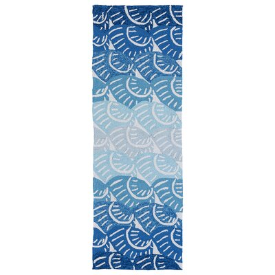 Claysburg Hand-Tufted Blue Oriental Indoor/Outdoor Area Rug Rug Size: Runner 2 x 6