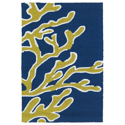 Claysburg Hand-Tufted Blue Indoor/Outdoor Area Rug Rug Size: 3' x 5'