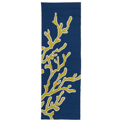 Pierre Hand-Tufted Blue Indoor/Outdoor Area Rug Rug Size: Runner 2' x 6'