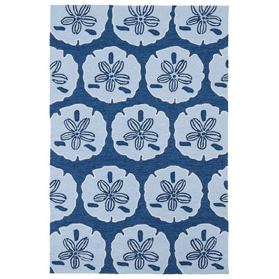 Claysburg Hand-Tufted Blue Geometric Indoor/Outdoor Area Rug Rug Size: Rectangle 86 x 116