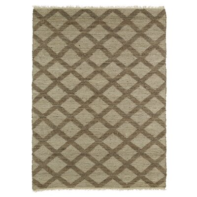 Raymond Grey/Chocolate Area Rug Rug Size: 36 x 56