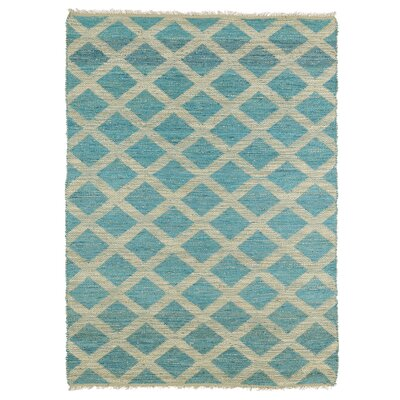 Coatsburg Reversible Beige/Teal Area Rug Rug Size: Rectangle 36 x 56