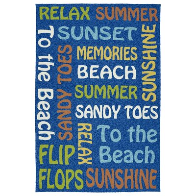 Cogdell Blue Indoor/Outdoor Area Rug Rug Size: Rectangle 5 x 76