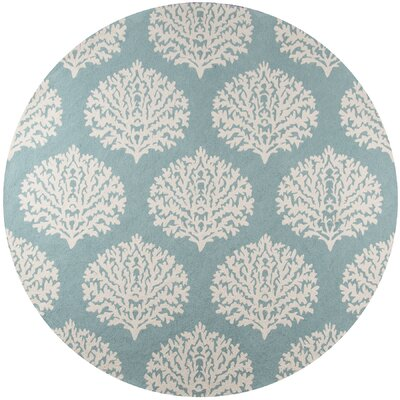 Cline Aqua Indoor/Outdoor Area Rug Rug Size: Round 9