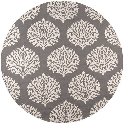 Tanguay Gray Indoor/Outdoor Area Rug Rug Size: Round 9