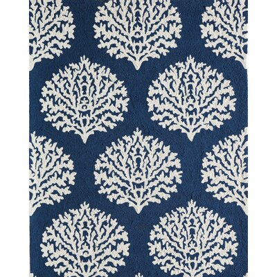 Cline Navy Indoor/Outdoor Area Rug Rug Size: 39 x 59