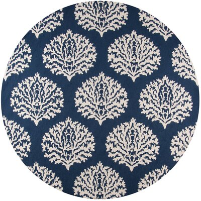 Cline Navy IndoorOutdoor Area Rug Rug Size: Round 9