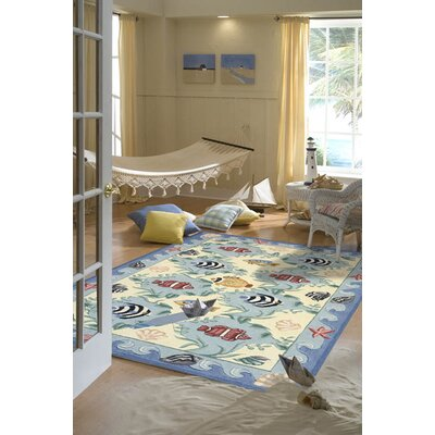 Tremblay Handmade Blue Area Rug Rug Size: 8 x 11