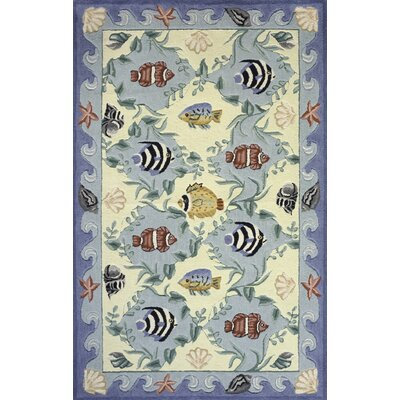 Tamins Handmade Blue Area Rug Rug Size: Rectangle 8 x 11