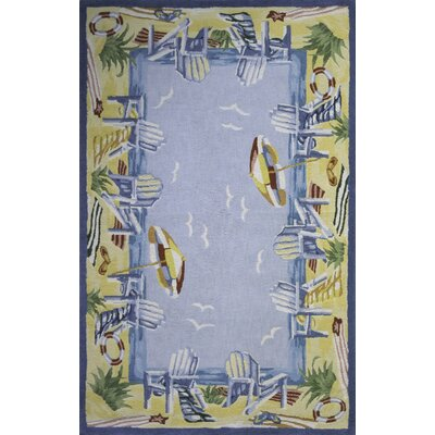 Tamins At The Beach Handmade Blue Area Rug Rug Size: 2 x 3