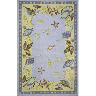 Tamins Shells Handmade Blue Area Rug Rug Size: Rectangle 2 x 3