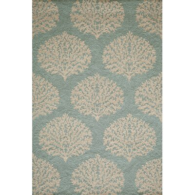 Tanguay Blue Hooked Indoor/Outdoor Area Rug Rug Size: 2 x 3