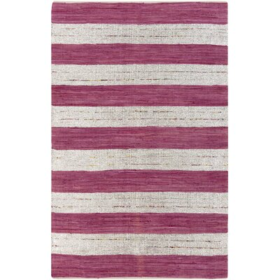 Chesterfield Magenta & Gray Area Rug Rug Size: 5 x 8