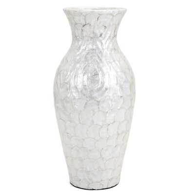 White Shell Floor Vase