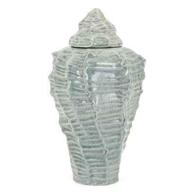 Green Shell Table Vase Size: Small
