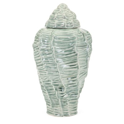 Green Shell Table Vase Size: Large
