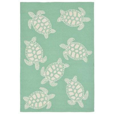 Claycomb Hand-Tufted Green Indoor/Outdoor Area Rug Rug Size: 76 x 96