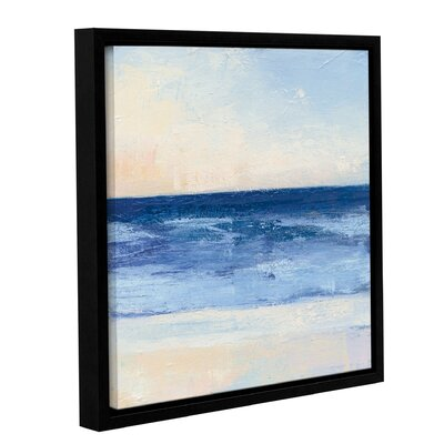 "'True Blue Ocean II' by Julia Purinton Framed Painting Print Size: 10"" H x 10"" W x 2"" D BCHH2098 34766407"
