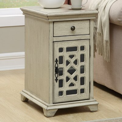 Mauldin End Table with Storage Color: Ivory