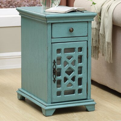 Mauldin End Table with Storage Color: Blue