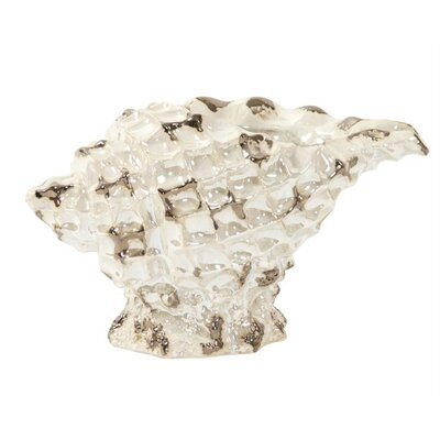 Pearlized Conch Shell Table Vase