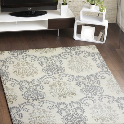 Winterbridge Hand-Tufted Ivory Area Rug Rug Size: 79 x 99