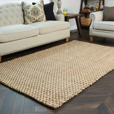 Zulma Hand-Woven Natural Area Rug Rug Size: 5 x 8
