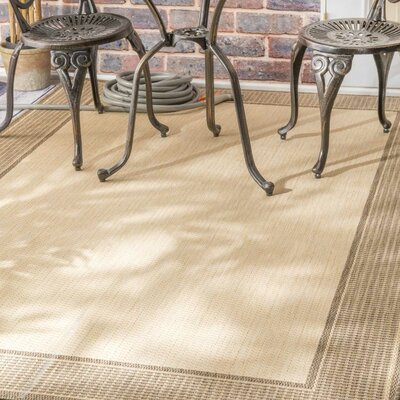 Burkley Beige Outdoor Area Rug Rug Size: 53 x 76