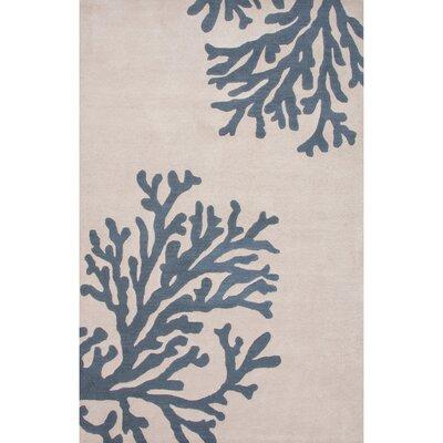 Orson Hand-Tufted Beige/Blue Area Rug Rug Size: 36 x 56