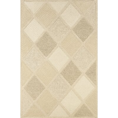 Argyle Hand-Woven Beige Area Rug Rug Size: Rectangle 26 x 46