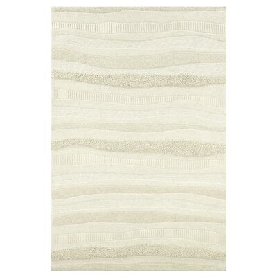 Argyle Hand-Woven Cream Area Rug Rug Size: Rectangle 36 x 56