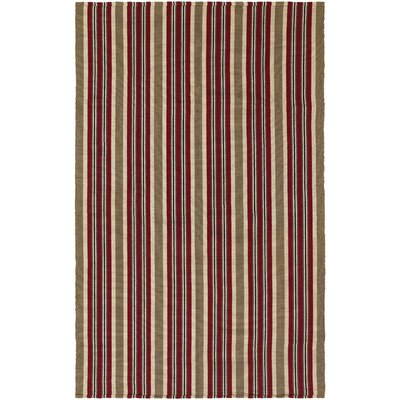 Greater Carrollwood Hand-Woven Green/Red Area Rug Rug Size: 5 x 8